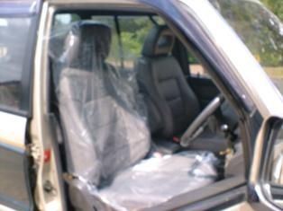 Plastic Seat Covers >> 100 X 25 Micron Clear Disposable Plastic Car Seat Covers In A Box